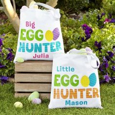 Need a unique gift? Send Official Egg Hunter Tote and other personalized gifts at Personal Creations. Easter Gifts For Kids, Diy Gifts For Mom, Easter Ideas, Easter Recipes, Personalized Gifts For Kids, Easter Projects, Easter Crafts, Bunny Crafts, Easter Decor