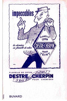 Retro Ads, Vintage Advertisements, French Man, Vintage School, Advertising, Personalized Items, Men's Style, Collections, Shirt