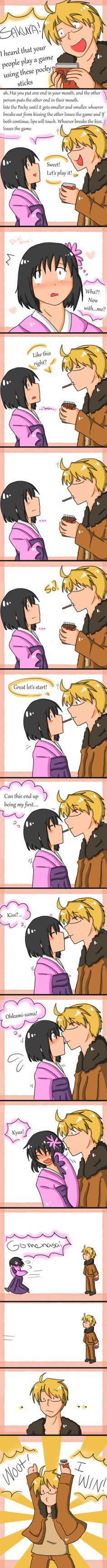 Pocky Game by SparxPunx.deviantart.com on @deviantART I dont usually pin ones of the pocky game but this was just too funny not to XD