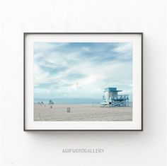 Lifeguard Tower Print Miami Beach Beach Print by AgiPhotoGallery