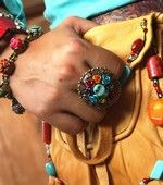Get Sweet Romance and Ollipop jewelry at Junk Gypsy Co.! (Day of the Dead ring)