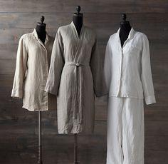 Stonewashed Belgian Linen Nightshirt
