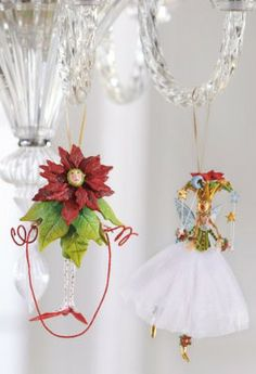 Let Patience Brewster's Poinsettia Princess Ornament dance right into your holiday display.