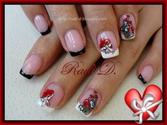 Me To You & St. Valentine`s Hearts by RadiD from Nail Art Gallery