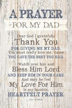 Dad (Father) Prayer Wood Plaque with Inspiring Quotes - Classy Vertical Frame Wall & Tabletop Decoration Prayer For My Friend, Prayer For Fathers, Prayer For Parents, Prayer For Family, Kids Prayer, My Dad Quotes, Dad Quotes From Daughter, Fathers Day Quotes, Dad Poems