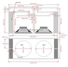 Ukuran Dan Skema Box Speaker Sub-Bass 15 Inch Double 15 Inch Subwoofer Box, Diy Subwoofer, Subwoofer Box Design, Speaker Box Design, Sub Box Design, Sound Design, Diy Boombox, Circuit Board Design, Car Audio Installation