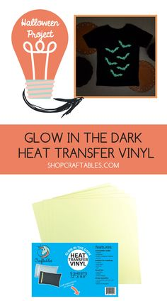 These glow in the dark vinyl sheets glow for hours and shine even after multiple washes. Create fun new clothing with our glow in the dark vinyl! Halloween Vinyl, Halloween Projects, Iron On Vinyl Sheets, Cheap Heat Transfer Vinyl, How To Use Cricut, Silhouette Cameo Machine, Natural Home Decor, Vinyl Cutting, Cricut Vinyl