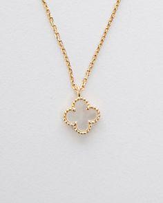 Van Cleef & Arpels Sweet Alhambra 18K Mother-of-Pearl Necklace