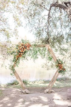 Hexagon Arch P. Bear Moose and Fox Photography Arch Flowers, Foxes Photography, Tree Lighting, Twinkle Lights, Wedding Wishes, Dahlia, Ladder Decor, Backdrops, Wedding Flowers