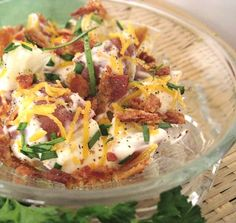 Easy Loaded Baked Potato Salad. Photo by Caroline Cooks