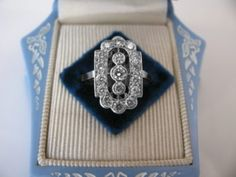 #Diamond #Engagement #Ring #Plaque #Art #Deco #Blue #Box #Jewelry #The #Antiques #Room #Galway #Ireland