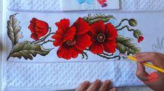 Papoulas Vermelhas em Tecido (Aula 85)