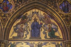 Our Lord Jesus Christ the Universal King / Jesucristo, Rey del Universo // Detail from the west wall of the Sainte Chapelle in Paris // photo: Lawrence OP