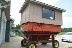 Check out this trailer-mounted deer blind that was recently photographed by the father of #MeatEater crew member Janis Putelis. The Michigan-based owner of the blind bought the grain trailer for $1. He and his buddies fitted it out with heat, a stove, and silent sliding windows. They haul it around with a tractor, and like to set it out in swampy area on their 600-acre property that fills up with deer that get pressured off a neighbor's farm during gun season.