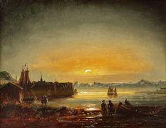 Peder Balke From Hammerfest 1851 Gravure, Installation Art, Landscape Paintings, Norway, 19th Century, Dresden, Scandinavian, Northern Lights, Sunrise