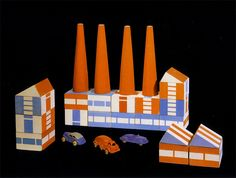 (via oliver.tomas @ flickr)    Prototype, Build the Town building block set, 1943    Source: Andel, J. et al. Ladislav Sutnar: Prague – New York – design in action, Prague: Museum of Decorative Arts in Prague & Argo Publishers, 2003.