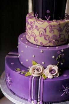 Tortas de 15 años color lila | Glam15