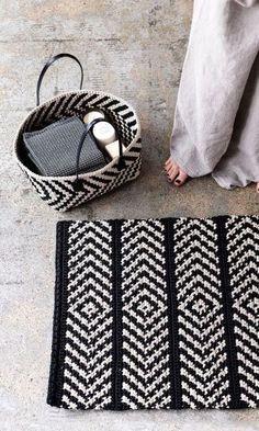 Virkattu matto ja pikkukori skandinaaviseen tyyliin – katso ohje! | Meillä kotona