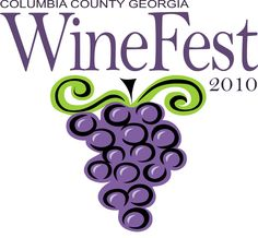 Wine Event - Columbia County Georgia Wine Fest logo #grapes #cPurples #cGreens