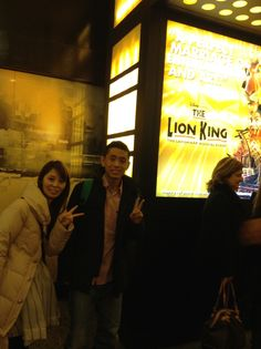 at the lion king theater.