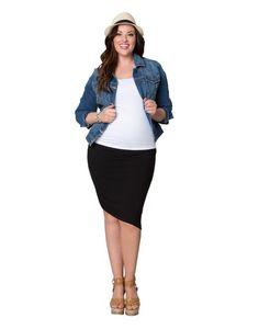 Plus Size Asymmetrical Skirt