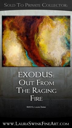 Exodus, a study in the strength of the color red and how it reacts to other colors that are around it. SOLD in to a collector in Cincinnati. Christian Art, The Collector, Cincinnati, Color Red, Original Paintings, Abstract Art, Strength, Study, Fire