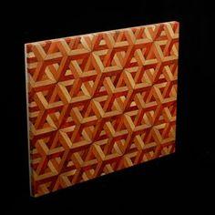 Laser Cut Geometric End-Grain Cutting Board #2 by Michael Reilly