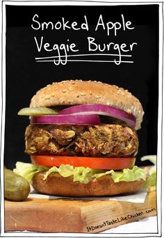 Smoke + apple + burger = YUM! These Smoked Apple Veggie Burgers aren't just any 'ol veggie burger you find in the grocery isle, this is a whole other story
