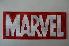 MARVEL logo hama beads (32 x 14 cm) by Crea-perles-82