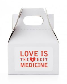 "DIY Wedding Favors To Craft For Valentine's Day Or Any Romantic Day - ""Love Is the Best Medicine"" Favor Box"