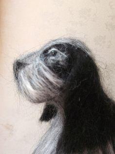 OOAK  Needle Felted Cocker Spaniel Dog Black by MrsPlopsShoppe
