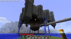 Awesome Minecraft floating castle!