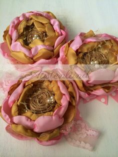 Pink and gold headband by Austenland  https://www.etsy.com/shop/Austenland