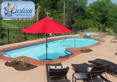 """Key Largo : 16'x36' Awesome Pools is located in Apison, Tennessee and builds beautiful fiberglass swimming pools, spas and tanning ledges from Custom Fiberglass Pools. We service South Eastern Tennessee and North Western Georgia.  For more information on how you can have your own """"Awesome"""" backyard, give us a call at (423) 615-9554, email us at info@awesomepoolsspas.com or visit www.awesomepoolsspas.com"""