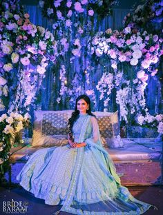 Looking for A bride-to-be wearing Light Blue Chikankari Lehenga? Browse of latest bridal photos, lehenga & jewelry designs, decor ideas, etc. on WedMeGood Gallery. Blue Lehenga, Lehenga Style, Lehenga Choli, Sari, Indian Wedding Outfits, Bridal Outfits, Wedding Dresses, Wedding Lehnga, Indian Outfits