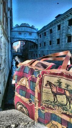 Fantastic view from Ponte dei Sospiri. Venice, Italy.