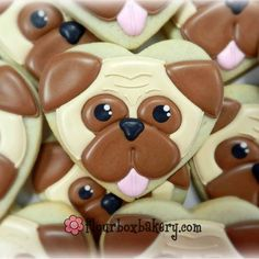 O.K. Who are my cookie designer/decorators out there in Instagram land? I just watched the video tutorial @flourboxbakery shared for making these #pug cookies and am absolutely in awe of the talent and patience needed to do your job! Tag your pages below so I can check out your work! (Those of you I work with regularly better comment below too!!!! Great exposure.)