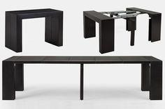'Transformer Table 2.0'은 자유 자재로 길이를 늘릴 수 있는 무척 독특한 테이블 입니다. 평소에는 2인용 테이블로 사용할 수 있으며, 최대 12명 까지 사용 가능한 큰 테이블로 변신 합니다. 길이를 늘렸다 줄였다 할 수 있기 때문에 공간 활용에 있어서 무척 큰 장점을 가져 오며, 손님이 오더라도 당황하지 않고 테이블을 사용할 수 있습니다.  사용방법은 의외로 무척 간단한데, 단순히 테이블의 양 끝을 잡아 당기기만 하면 됩니다. 원하는 길이로 늘린 이후에는 패널을 추가하고 바로 사용할 수 있죠. 테이블의 중앙에는 추가 다리가 있기 때문에 무척 안정적으로 사용할 수 있으며, 최대 750 파운드(340kg)까지 지원할 수 있습니다.