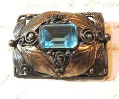 Hobe Sterling 14K Brooch Pin Large Designer Vintage Jewelry