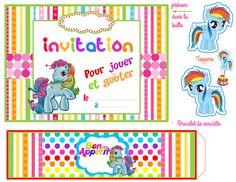 03_INVITATION Anniversaire My Little Pony, Little Poney, Rainbow Dash, Birthdays, Kids Rugs, Invitations, Paper, Fun, Beautiful