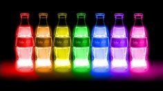 colors, neon, and cola image Moustache Swag, Neon Colors, Rainbow Colors, Rainbow Things, Rainbow Stuff, Bright Colors, Neon Rainbow, Rainbow Flag, Rainbow Pride