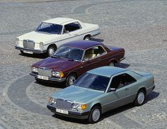 Mercedes-Benz Coupé W114 + W123 + W124 by Auto Clasico, via Flickr