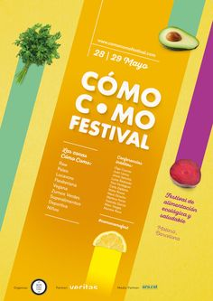 Como Festival 2016 Poster By Red Vinilo Eco Healthy Food Design PostersPoster