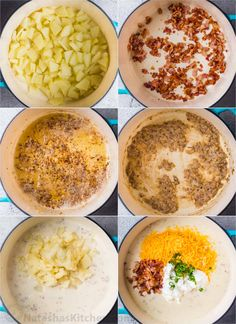 A detailed tutorial how to make potato soup from scratch with homemade soup base. Homemade Potato Soup, Cream Of Potato Soup, Loaded Mashed Potato Casserole, Cheesy Potato Soup, Loaded Baked Potato Soup, Cheesy Potatoes, Baked Potatoes, Potato Soup Calories, Easy Soup Recipes