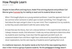 An analysis of how we learn in different ways.