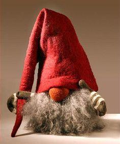 Tomte with Red Felt Cap Mittens See more at http://blog.blackboxs.ru/category/christmas/