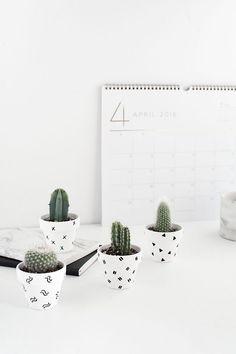 DIY Mini Patterned Plant Pots - Homey Oh My