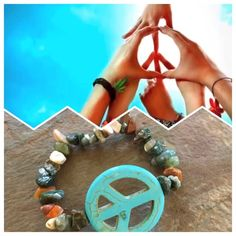 Give peace a chance with this bracelet that fits tiny wrists! www.daintywristjewelry.com/peace-chipped-stone-bracelet-p/0014.htm