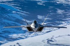 Lockheed Martin Raptor during a flight in Alaska Military Jets, Military Aircraft, Stealth Aircraft, Russian Bombers, American Flag Decal, F22 Raptor, Aircraft Design, Vintage Design, Raptors