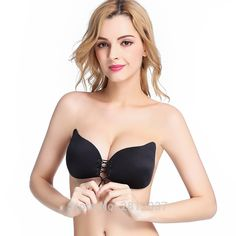 a623fc6775f4a Bandage Self Adhesive Invisible Strapless Push Up Bra Top Stick Gel Silicone  Bralette Sexy Deep V Bras for Women Sujetador